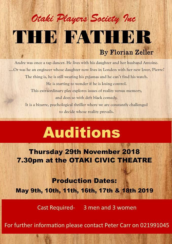 THE FATHER AUDITIONS